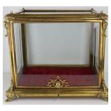 19th Century Display Case with Beveled Glass.