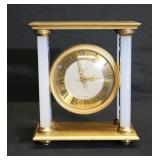 Tiffany Bronze Clock With Columns