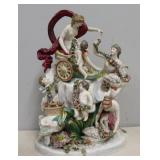 Signed. Large Porcelain Figural Grouping.
