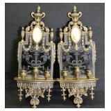 Pair Of Caldwell Quality Brass And Patinated
