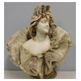 Teplitz Signed Porcelain Bust Of A Beauty