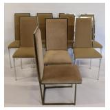 Midcentury. A Set Of 8 Matched High Back Chairs.
