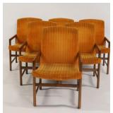 Midcentury. Set Of 6 Danish Modern Upholstered