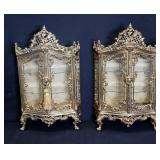 Vintage And Fine Quality Pair Of Gilt Metal