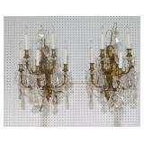 Pair Of Large Caldwell Quality Gilt Bronze Sconces