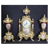 Lot Of 2 Clock Garniture sets .