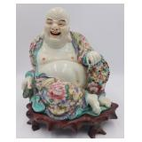 Chinese Famille Rose Smiling Buddha.