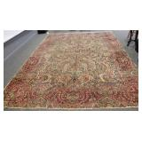 Antique And Finely Hand Woven Kerman Carpet.