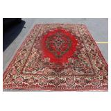 Large Vintage Finely Hand Woven Carpet .