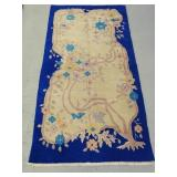 Antique Hand Woven Art Deco Rug