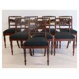 Set Of 8 Regency Style Finely Carved Chairs.