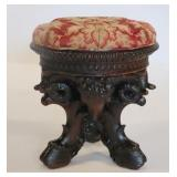 Highly Carved Ram Form Stool.