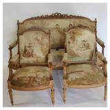 Finest Quality Louis XV 1 Style Carved Settee