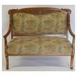 Antique Carved Upholstered Settee