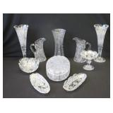 Lot Of Waterford Quality Fine Cut Glass Items