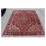 Antique And Finely Hand Woven Heriz Carpet.