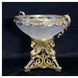 Fine Quality Cut Glass And Gilt Bronze Centerpiece