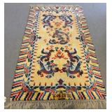 Vintage & Fine Quality  Chinese Dragon Carpet