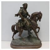 Antique Patinated Metal Sculpture Of An Arab On