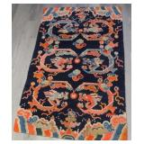 Chinese NingXia Wool Dragon Carpet.