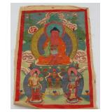 Antique 18th/19th C Tibetan Thangka.