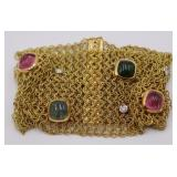 JEWELRY. Italian 18kt Gold, Colored Gem & Diamond