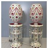 Large And Impressive Pair Of Bohemian Glass Luster