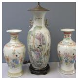 Pr Antique Chinese Porcelain Vases And A Vase As