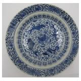 Antique Chinese Blue & White Porcelain Enamel