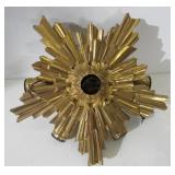 Antique Bronze Starburst Chandelier.
