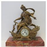 Antique Gilt Metal Figural Clock