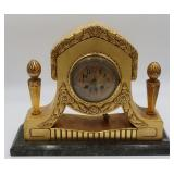 Art Deco Carved And Gilt Wood Clock
