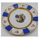 (9) Rosenthal Gilt and Floral Decorated Plates.