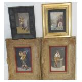 Lot Of 4 Framed Pietra Dura Plaques