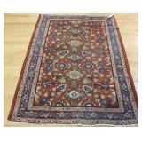 Antique Persian And Finely Hand Woven Mahal Rug
