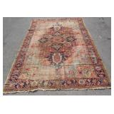 Antique And Finely Hand Woven Heriz Carpet .