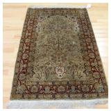Vintage And Finely Hand Woven silk Carpet
