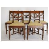 5 Mahogany Regency Chairs.