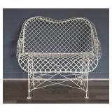 Victorian Enameled Wire Settee.
