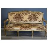 Antique Carved And Giltwood Louis XV1 Style Settee