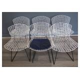 6 Midcentury Bertoia Wire Chairs