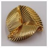 JEWELRY. Tiffany & Co. 14kt Gold Ruffled Edge