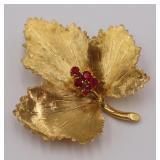 JEWELRY. Italian Tiffany & Co. 18kt Gold and Ruby