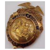 GOLD. NYPD 14kt Gold Supervisor Medal.