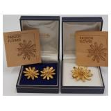 """JEWELRY. 3 Pc. Astwood Dickinson """"Passion Flower"""""""