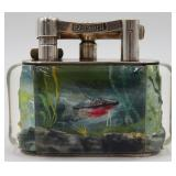 "Large Dunhill ""Aquarium Lighter"" with Fish."