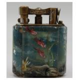 "Small Dunhill Lucite ""Aquarium Lighter"" with Fish."