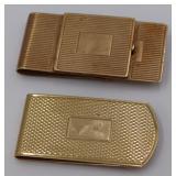 GOLD. (2) 14kt Gold Money Clips.