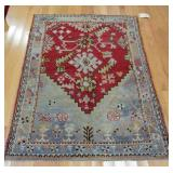Antique And Finely Hand Woven Turkish Oushak
