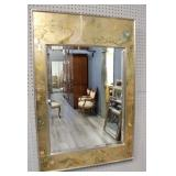 LaBarge Chinoiserie Wall Mirror Signed  K Widing